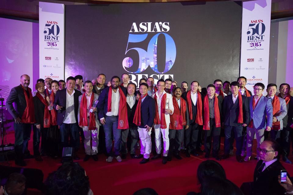 윌리엄 리드 비즈니스 미디어(WRBM)는 지난 10일 산 펠레그리노(S.Pellegrino)와 아쿠아판나(Acqua Panna)가 후원하는 아시아 최고 레스토랑 50 수상자를 싱가포르 카펠라 호텔(Capella Hotel)에서 열린 시상식에서 발표했다. 이번 2015년 '아시아 최고 레스토랑 50(Asia's 50 Best Restaurants 2015)' 어워드에서는 방콕에 소재한 가간(Gaggan)이 1위를 차지했다. 가간은 또 산 펠레그리노 아시아 최고 레스토랑 어워드는 물론 아니라 태국 최고 레스토랑 어워드의 영예를 동시에 안았다.