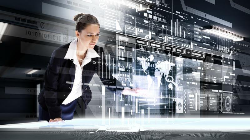 전자 여성 IT 디지털 미래 shutterstock_351588077