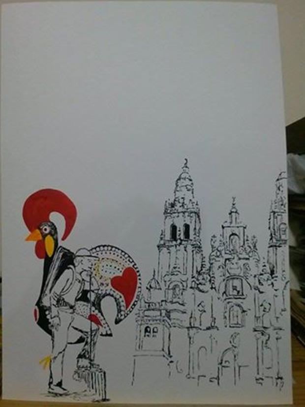 '순례' 브라질 화가 가브리엘 가비올리의 작품.