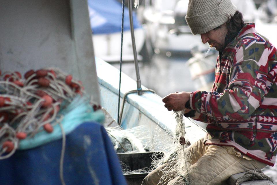 어부 네트워크 보트 바다 낚시 fisherman-449280_960_720